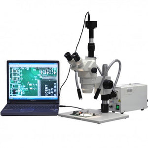 AmScope 2X-225X Large Stand Ultimate Circuit Board Zoom Stereo Microscope (SKU: ZM-1TW3-FOD-10M).