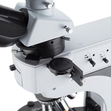 Top of the Amscope 50X-1000X Advanced Upright Polarized-light Microscope (SKU: PZ620T-MF603).