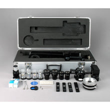 Accessories and case for AmScope 50X-1250X EPI Infinity Polarizing Microscope (SKU: PZ600TC-HD205).