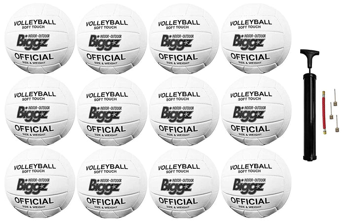 (Pack of 12) Biggz Volleyballs - Soft Touch Leather - Official Size