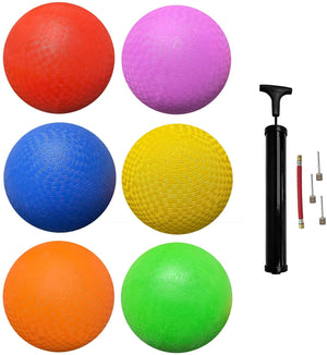 (Pack of 6) Biggz Rubber Kick Ball 8.5 inch - Official Size for Dodge Ball - Bulk Balls