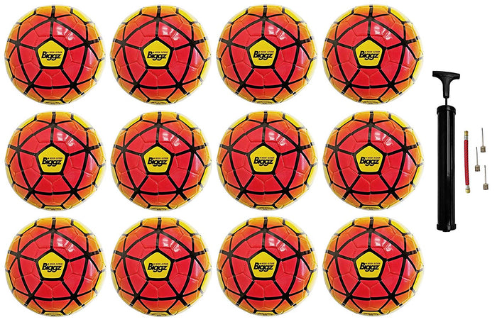 (Pack of 12) Biggz Premium Soccer Balls Durable Size 5