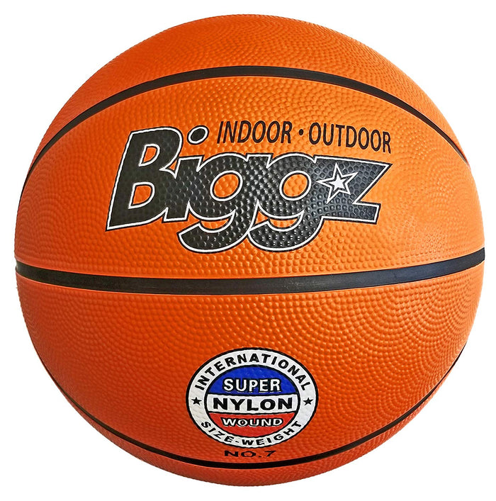 "Biggz Premium Rubber Basketballs - Orange - Official Size 7 (29.5"")"