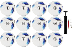 (Pack of 12) Biggz Premium Digital Soccer Ball Size 5 - Bulk Balls