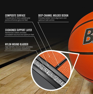 "Biggz Premium Rubber Basketballs - Orange - Official Size 7 (29.5"") - Bulk Balls"