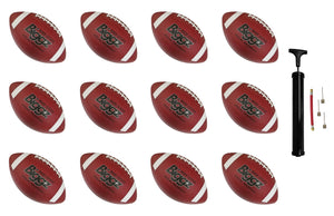 (Pack of 12) Biggz Premium Rubber Footballs Official Size - Bulk Balls