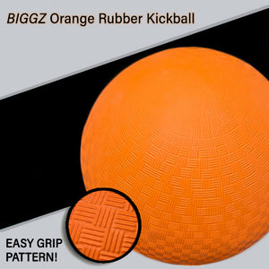 (Pack of 12) Biggz Rubber Kickball 8.5 inch - Official Size for Dodge Ball - Bulk Balls