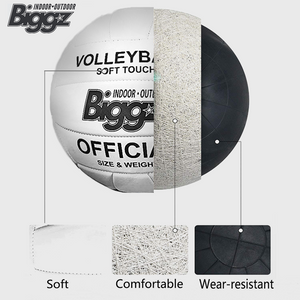 (Pack of 50) Biggz Volleyballs - Soft Touch Leather - Official Size - Bulk Balls