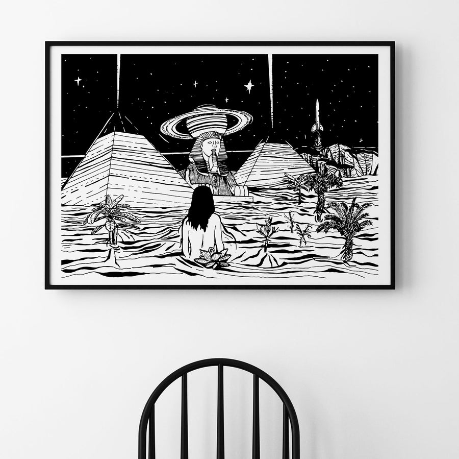 DREAMS BUT NO SLEEP | ART PRINT