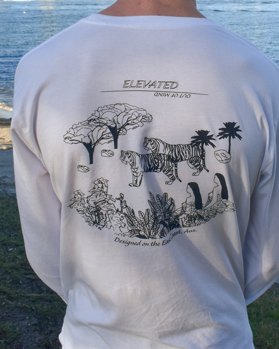 Elevated Long Sleeve Tee (White)