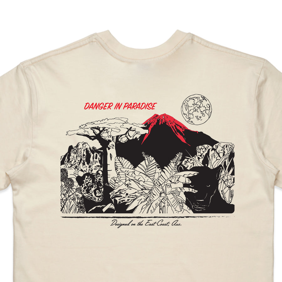 Danger In Paradise Tee (Natural)