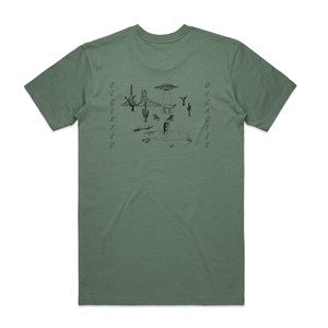 Green T-Shirt With Camel Print