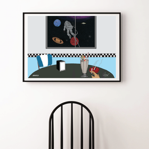 High At The Diner Print