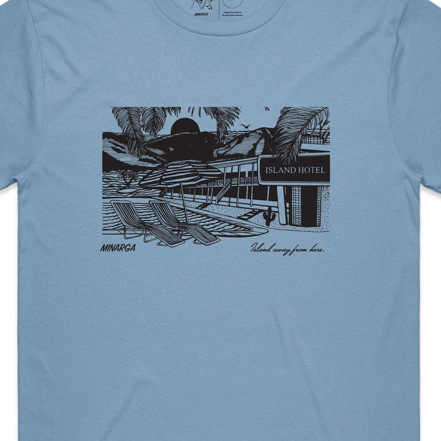 Island Hotel T-Shirt (Carolina Blue)