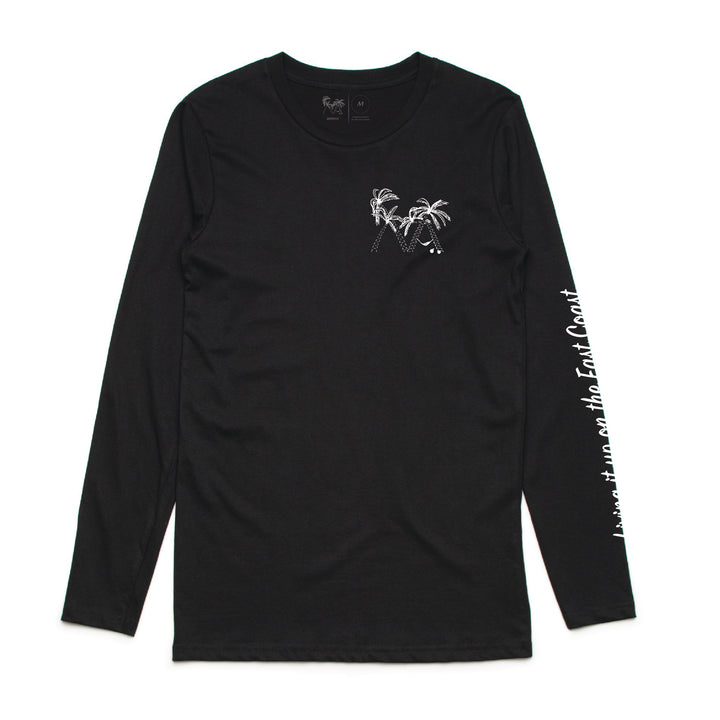 Lazy Palm Long Sleeve Tee (Black)