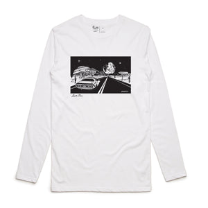 Jupiter Drive Long Sleeve Tee (White)