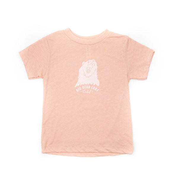 Big Bear Lake Tee - Peach - Big Bear Lake - Camp Crib - Big Bear Logo - Children's Clothing