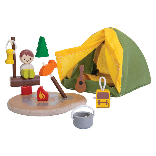 Plan Toys Camping Set - Kid's Toy - Children's Toy - Wooden - Camp Crib - Big Bear Lake
