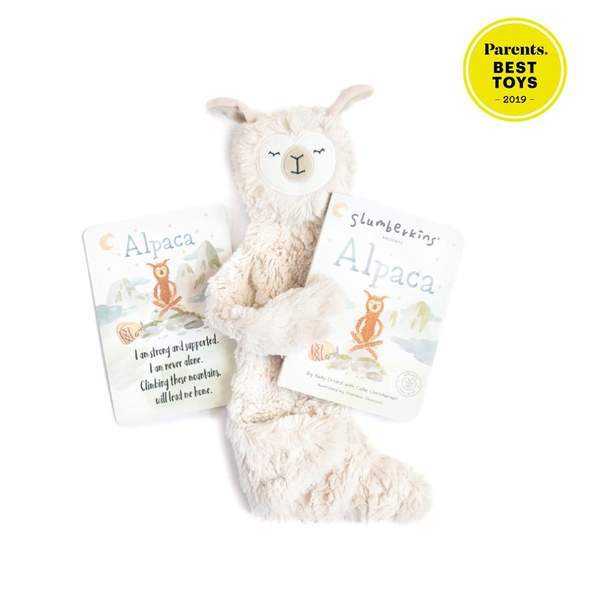 Slumberkins Hazel Alpaca Snuggler Bundle - Baby Stuffed Animal - Security Blanket - Children's Boutique - Baby Clothing Store - Camp Crib - Big Bear Lake California