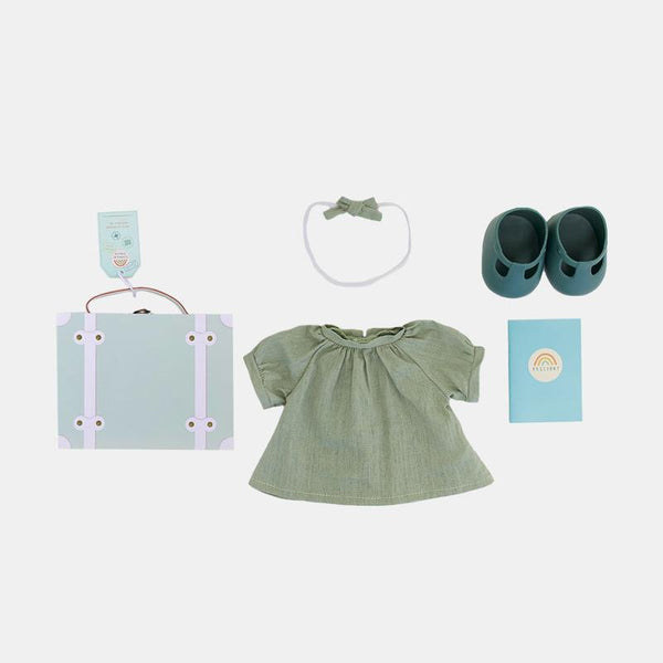 Olli Ella Dinkum Doll - Mint - Travel Togs - Infant Toy - Organic Cotton - Children's Boutique - Baby Clothing Store - Camp Crib - Big Bear Lake California