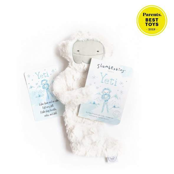 Slumberkins Yeti Snuggler Bundle - Baby Stuffed Animal - Security Blanket - Children's Boutique - Baby Clothing Store - Camp Crib - Big Bear Lake California