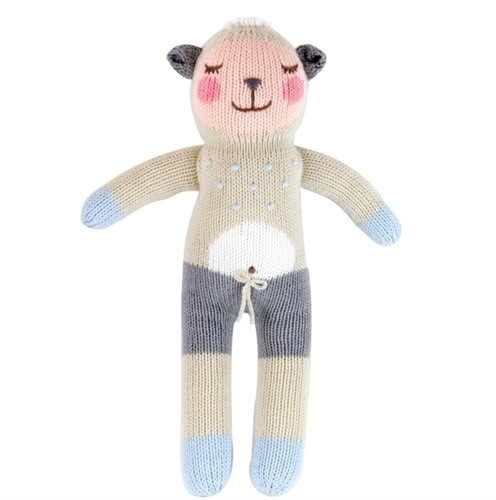 Blabla Kids Wooly The Sheep - Kids Stuffed Animal - Handknit - Toy - Children's Boutique - Baby Clothing Store - Camp Crib - Big Bear Lake California