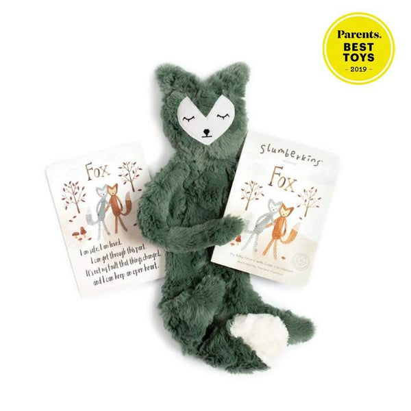 Slumberkins Emerald Fox Snuggler Bundle - Baby Stuffed Animal - Security Blanket - Children's Boutique - Baby Clothing Store - Camp Crib - Big Bear Lake California