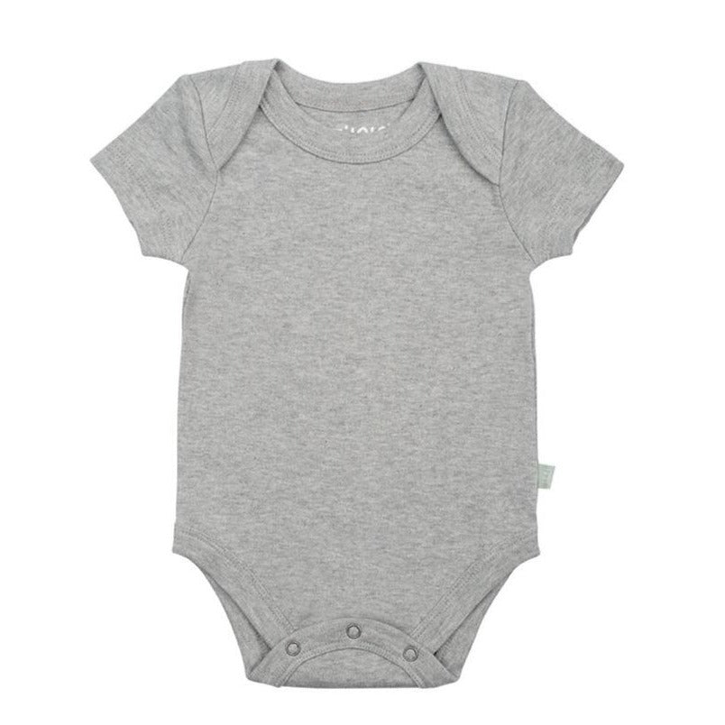 Finn + Emma Grey Organic Cotton Onesie - Infant Essentials - Baby One Piece - Children's Boutique - Baby Clothing Store - Camp Crib - Big Bear Lake California