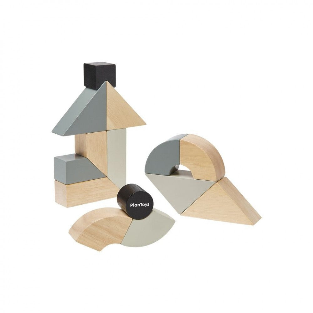 Plan Toys - Twisted Blocks - Wooden Toy - Children's Toys - Kids Game - Building Blocks - All Natural - Camp Crib - Big Bear Lake