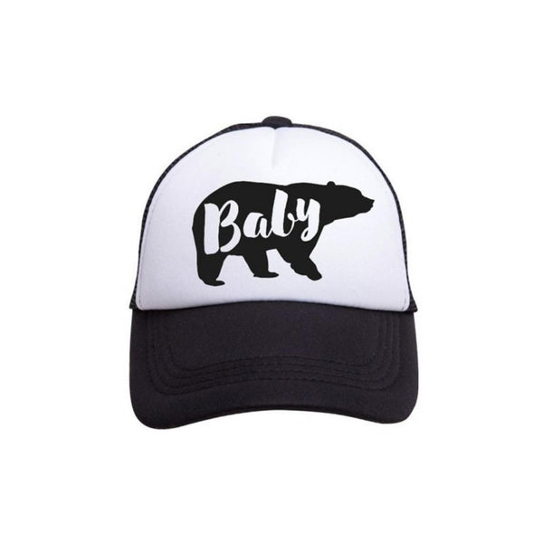 Baby Bear Trucker Hat - Tiny Trucker - Kids Trucker hat - Baby Bear - Camp Crib - Big Bear Lake