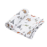 Little Unicorn Cotton Swaddle - Forest Friends - Woodland - Swaddle - Camp Crib - Big Bear Lake
