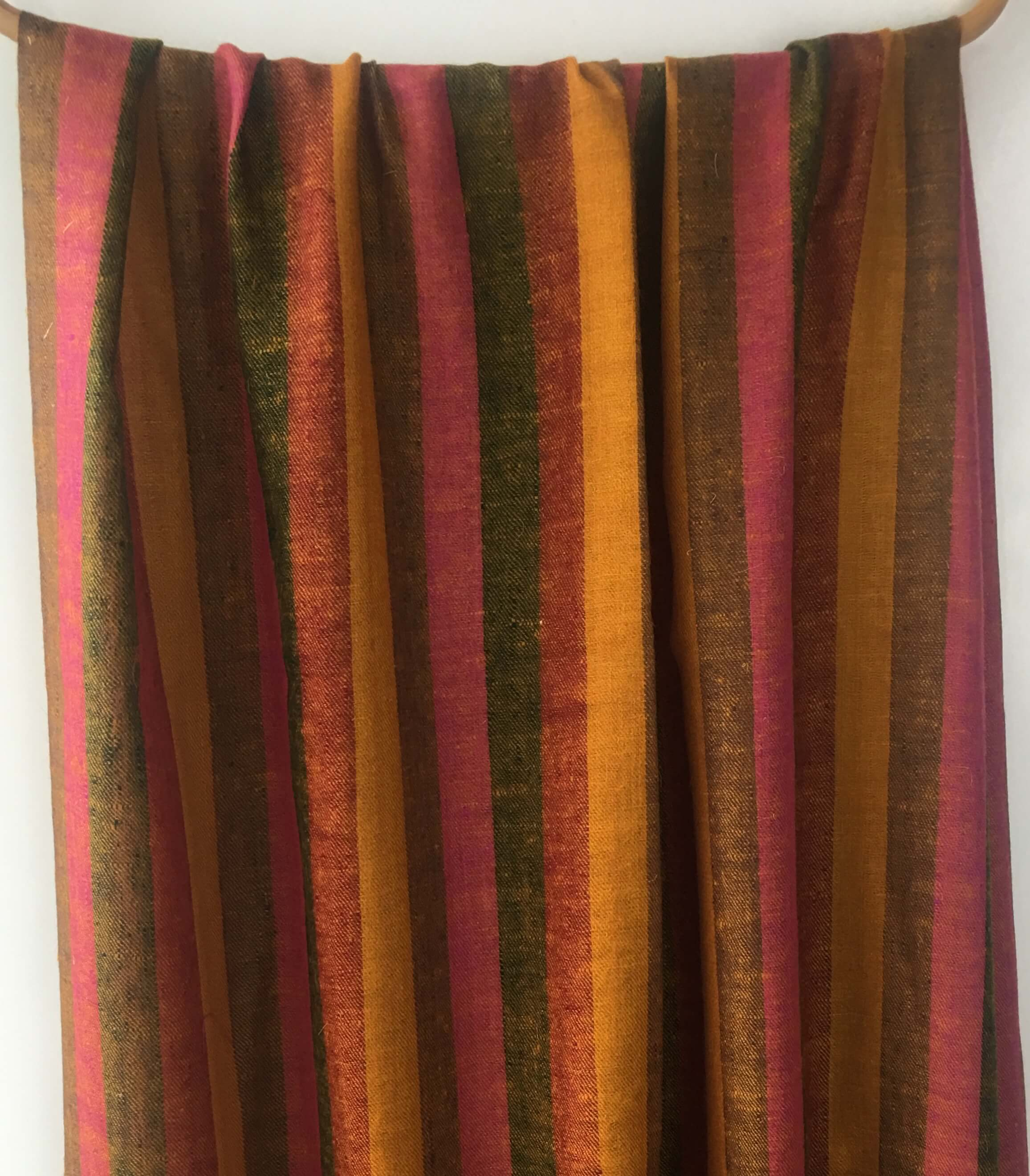 Pure Pashmina Scarf - Dark Orange Stripes