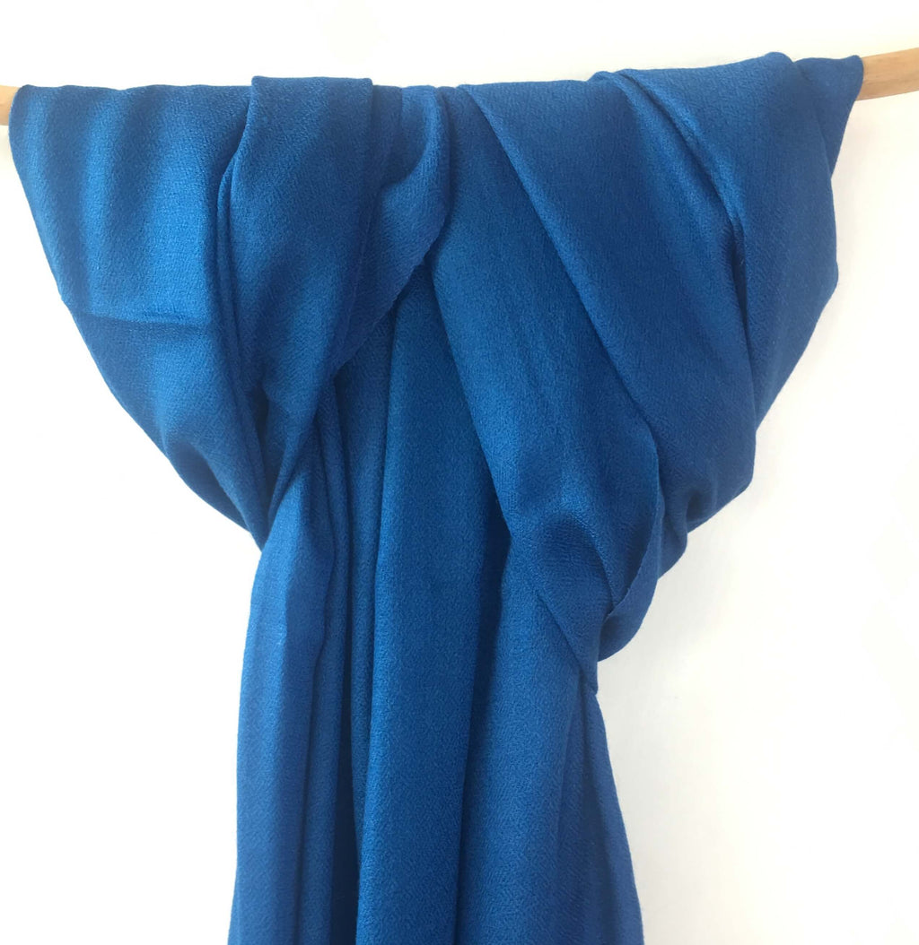 Pure Pashmina Scarf - Dark Blue