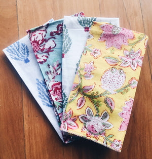 Block Printed Cloth Napkins