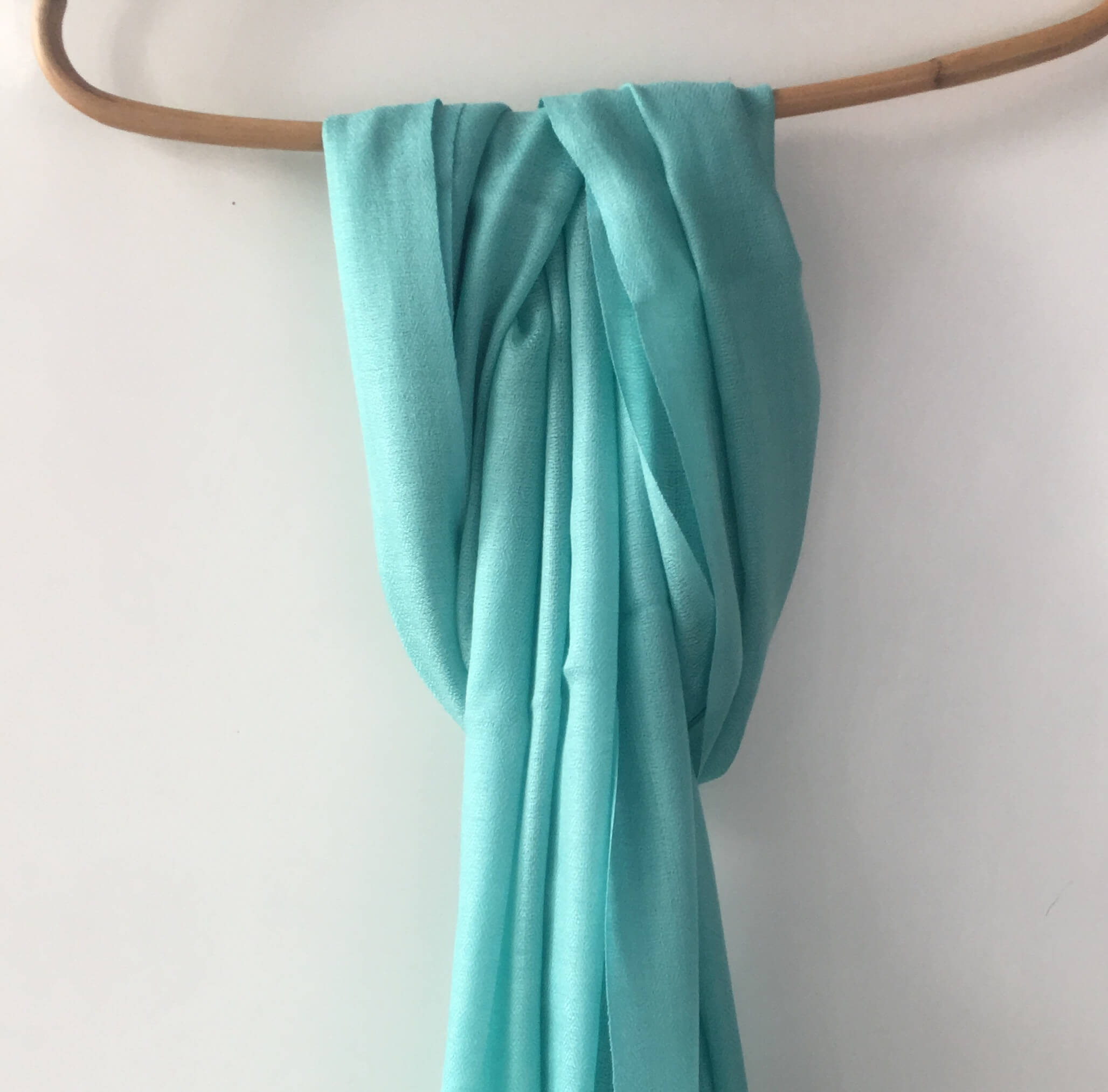 Pure Pashmina Scarf - Light Blue