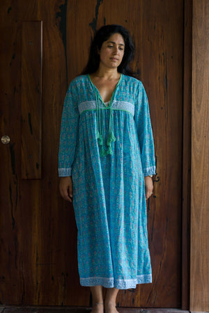 Pari Dress Blue | Vintage Indian Dresses
