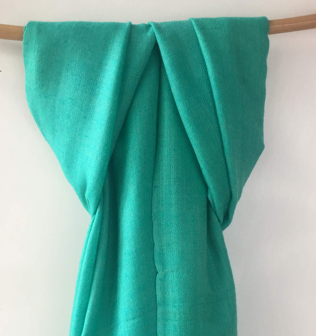 Pure Pashmina Scarf - Sea Green
