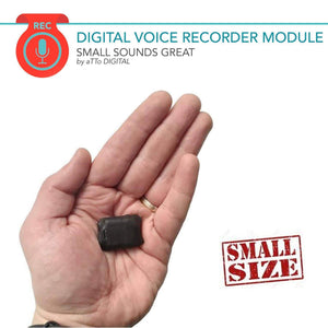 Mini Module Voice Recorder | 572h Recordings Capacity | 24h Battery Life