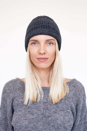 Recycled Denim & Merino Hat