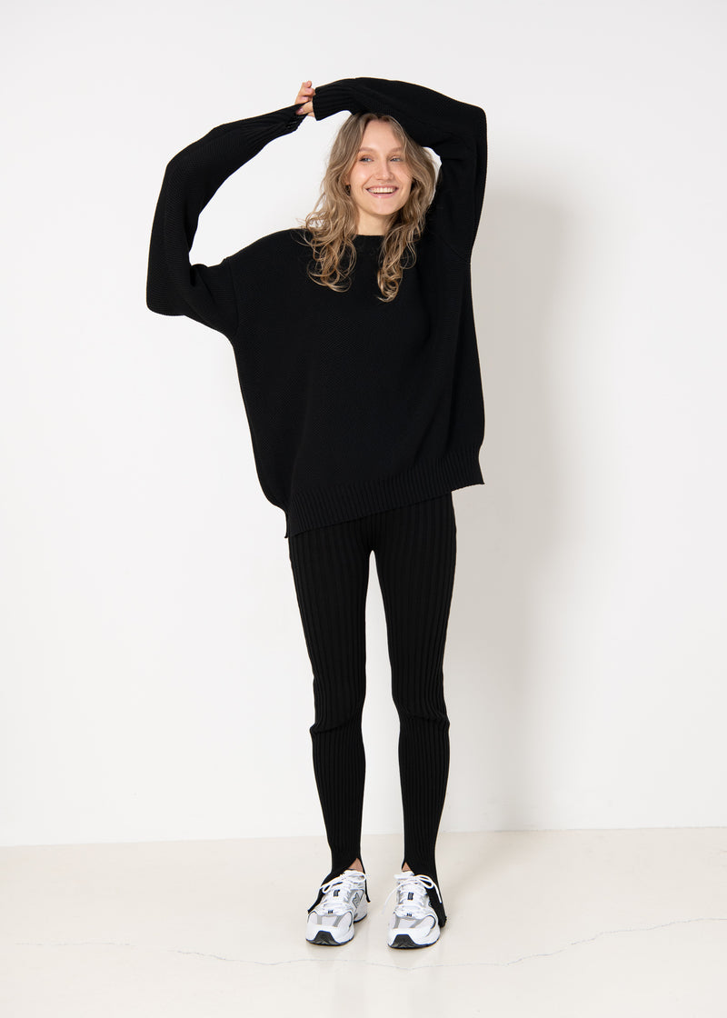 Oversized Unisex Jumper Black