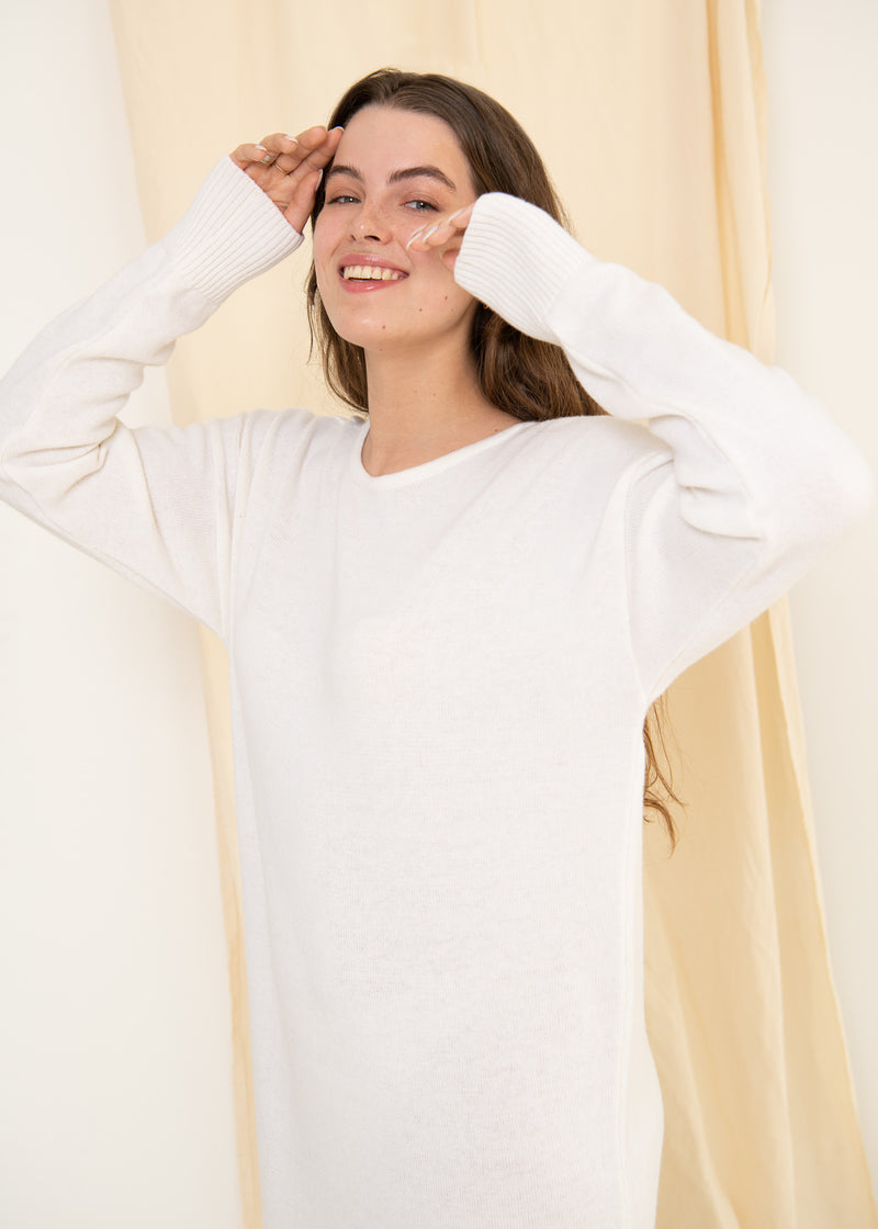 Lungo Sweater Dress White