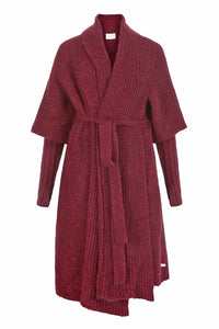 Tesoro Alpaca Coat - Ruby Red