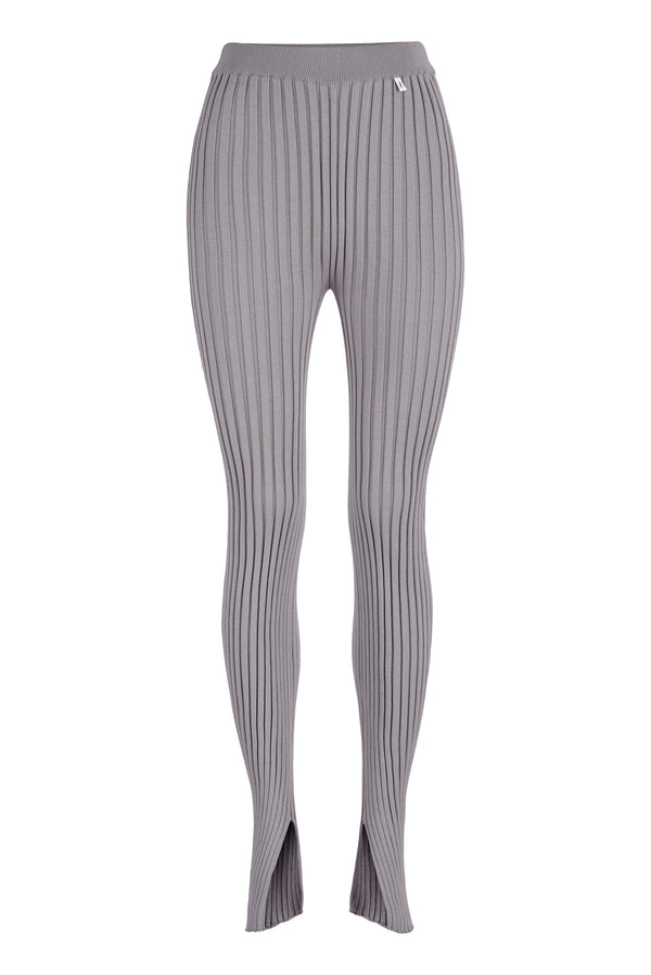 Ribbed Leggings Grey