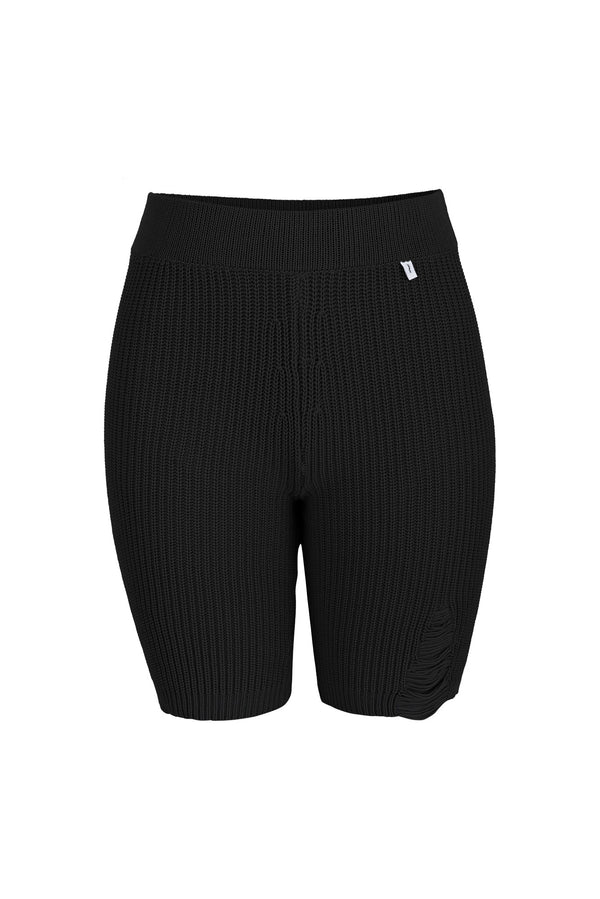 Ribbed Cycling Shorts Black