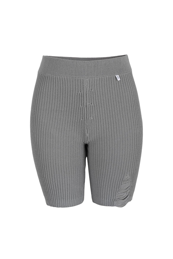 Ribbed Cycling Shorts Grey