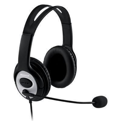 Microsoft LifeChat LX3000 USB Headset Wired with Microphone Gaming Refurbished - Techcrate.ca