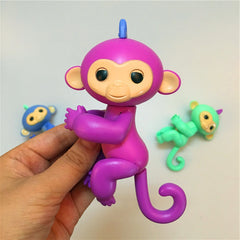 finger monkey head and tail and hand and feet can turn finger baby monkey
