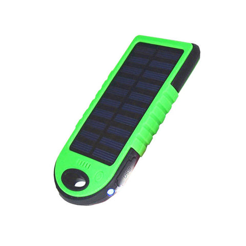 2 In 1 Solar Powered Power Bank Waterproof Dustproof Shockproof Dual USB Output Portable Solar Charger