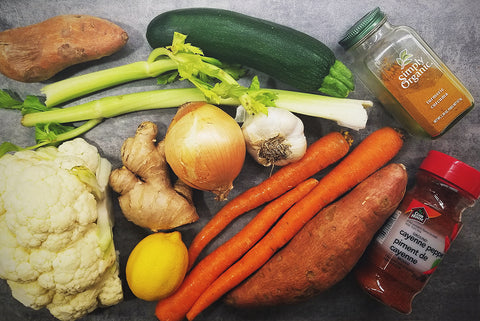 Fresh Ingredients - Autumn Harvest Soup - Tranquil Yogi Community Blog. Helping others and growing in yoga practice