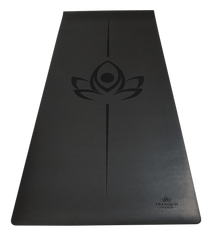 Charcoal Oasis Amazing Grip natural rubber yoga mat